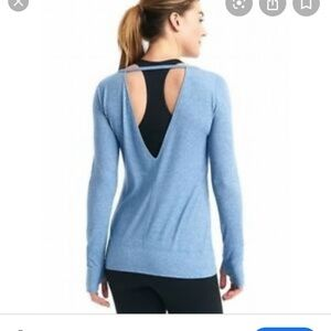 Gapfit long sleeve open back long sleeve top